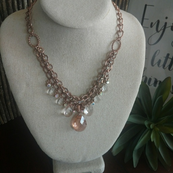 2028 Jewelry - 2028 Rose Gold multi strand Necklace adjustable